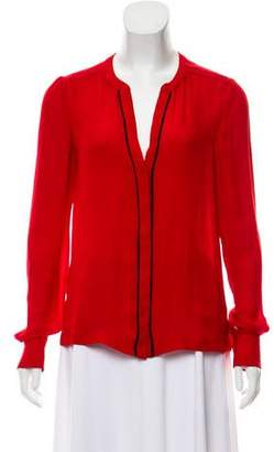 A.L.C. Long Sleeve Silk Blouse