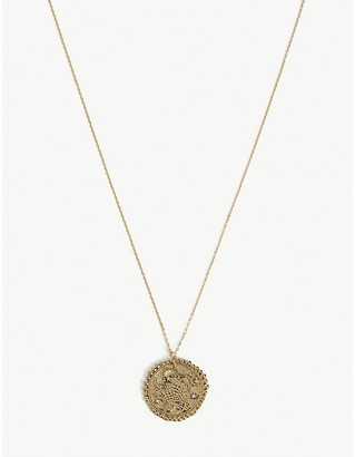 Maje Taurus zodiac brass coin necklace