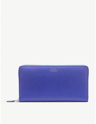 Smythson Panama leather zipped travel wallet