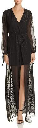 Aqua Embroidered Chiffon Maxi Dress - 100% Exclusive
