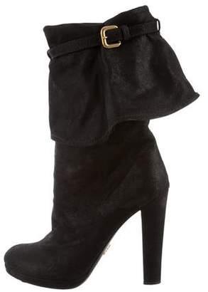 Prada High-Heel Foldover Boots