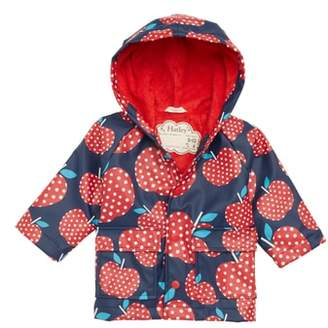 Hatley Polka Dot Apples Waterproof Hooded Raincoat