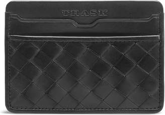 Trask Woven Leather Card Case
