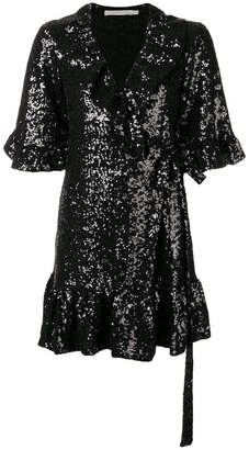 Amen wrapped short-sleeve mini dress