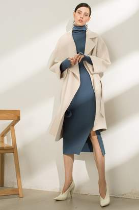 Rll / Studio Wide Sleeve Wool Wrap Coat
