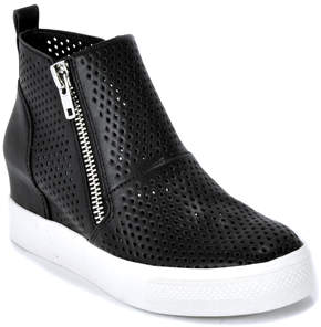 Steve Madden Wedgie P - Perforated Leather Wedge Sneaker