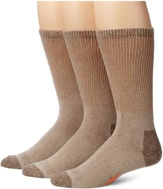 Dockers 3 Pack Cushion Comfort Non Binding Basic Cotton Crew Socks