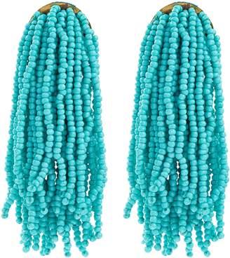 Kenneth Jay Lane Bead waterfall fringe drop earrings