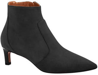 Aquatalia Marilisa Low-Heel Suede Booties