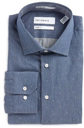 Men's Calibrate Trim Fit Dot Dress Shirt $89.50 thestylecure.com
