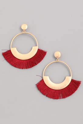 Compendium Red Fringe Earrings
