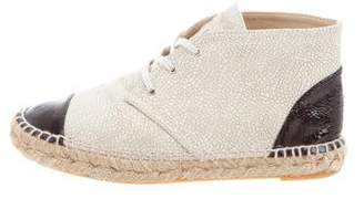 Chanel Cap-Toe Espadrille Desert Boots