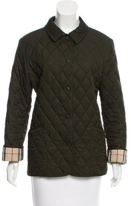 Burberry London Check-Lined Quilted Jacket $375 thestylecure.com