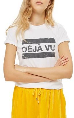 Women's Topshop Deja Vu Graphic Tee $28 thestylecure.com