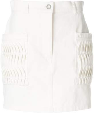 Courreges pintuck detail skirt
