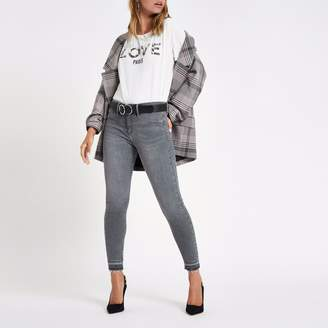 River Island Womens Petite grey Molly mid rise jeggings
