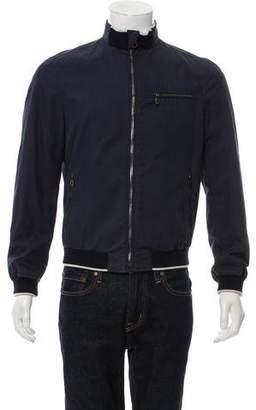 Salvatore Ferragamo Woven Bomber Jacket