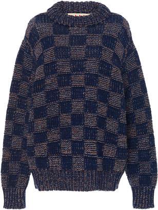 Marni Checked Wool Sweater