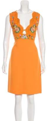 Emilio Pucci Embellished Knee-Length Dress