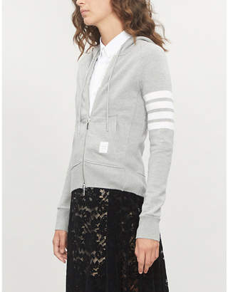 Thom Browne 4-bar Stripe cotton-jersey hoody