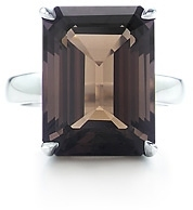 Tiffany Sparklers Smoky quartz cocktail ring