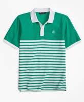 Brooks Brothers (ブルックス ブラザーズ) - BOYS GF コットンピケ ノーティカルストライプ ポロシャツ