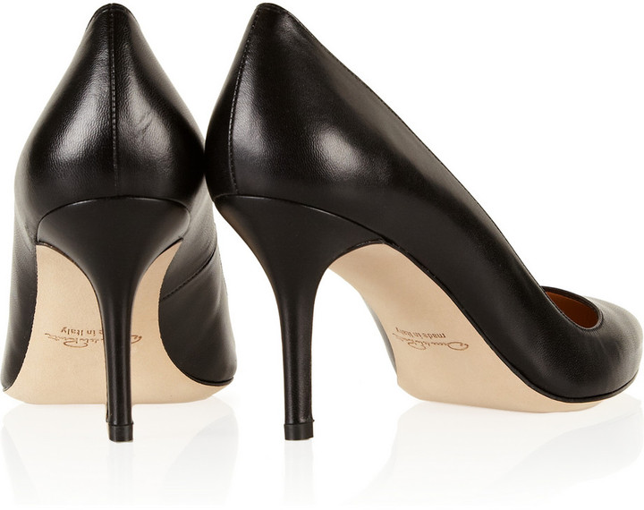 Oscar de la Renta Mimi leather pumps