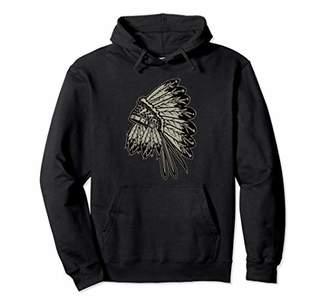 Native American War Bonnet Headdress Eagle Feather Hat Pullover Hoodie