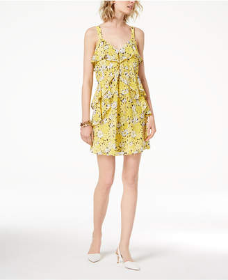 Michael Kors MICHAEL Ruffled Floral-Print Dress,a Macy's Exclusive Style