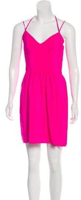 Amanda Uprichard Sleeveless Silk Mini Dress