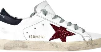 Golden Goose Glittered Superstar Sneakers