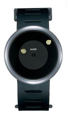 Alessi (アレッシー) - Alessiレディースal3002 Look No Hands 。ポリウレタンブラックDesigned by Ron Arad Watch