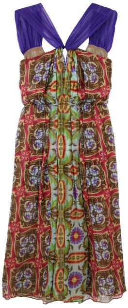 Philosophy di Alberta Ferretti Aztec Paisley Dress