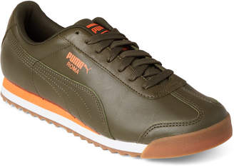 Puma Forest Night & Firecracker Roma Classic Low-Top Sneakers