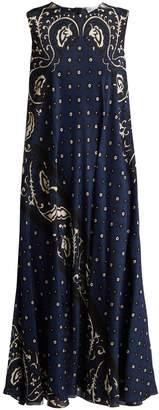 RED Valentino Silk paisley-print maxi dress