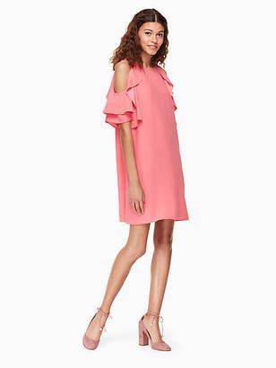 Kate Spade Cold shoulder crepe dress