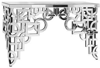 Elegant Lighting Decorative Silver Console Table