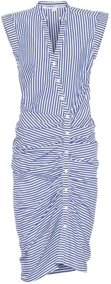 Veronica Beard Ruched cotton dress