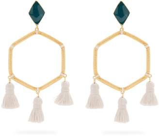 MARTE FRISNES Cooper gold-plated tassel earrings