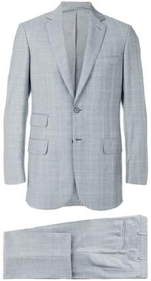 Brioni plaid loose fit suit