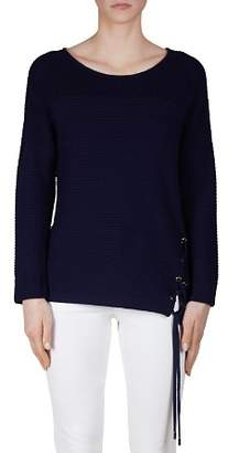 Gerard Darel Felicie Ribbed Lace-Up Sweater