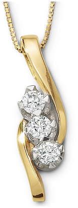 Sirena CT. T.W. Diamond 3-Stone Pendant Necklace