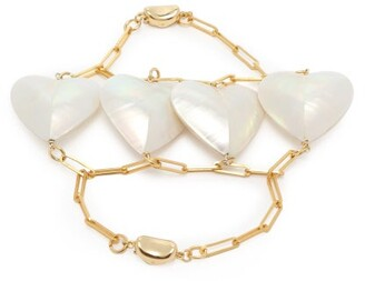Mother of Pearl Timeless Pearly Heart Bracelet - Womens - Pearl