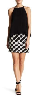 Romeo & Juliet Couture Geo Patterned Sequin Mini Skirt