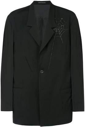 Yohji Yamamoto spider web print blazer