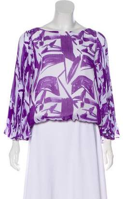 Alice + Olivia Long Sleeve Patterned Top