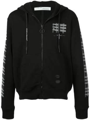Off-White Off White geometric motif hoodie