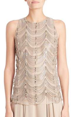 Ralph Lauren Collection Beaded Silk Shell