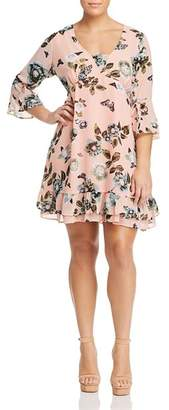 Junarose Plus Amara Floral-Print Ruffle Dress
