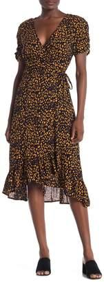 Everleigh Printed Woven Wrap Dress